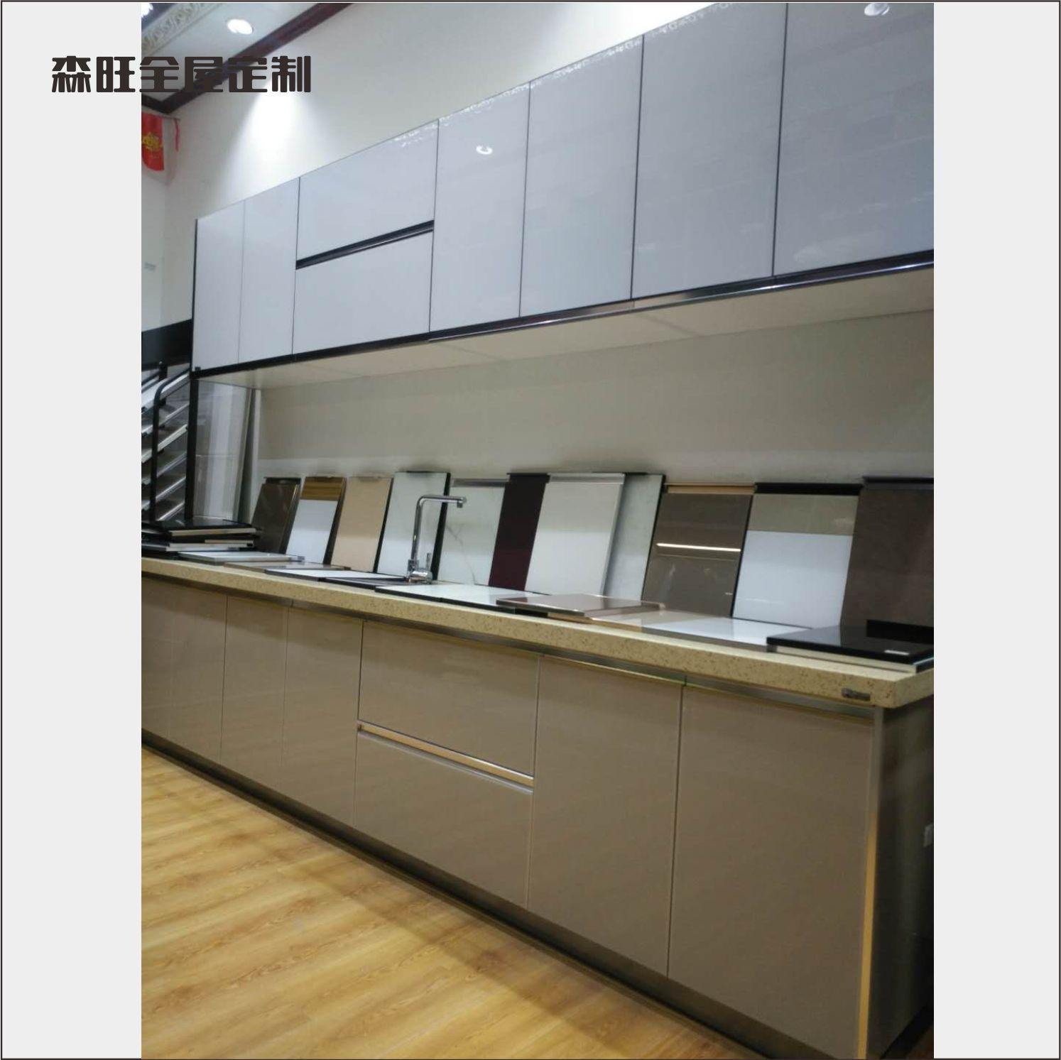 涵江莆田森旺全屋定制家具整体橱柜柜门烤漆玻璃橱柜门