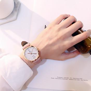 情侣手表女士石英日历手表送手镯