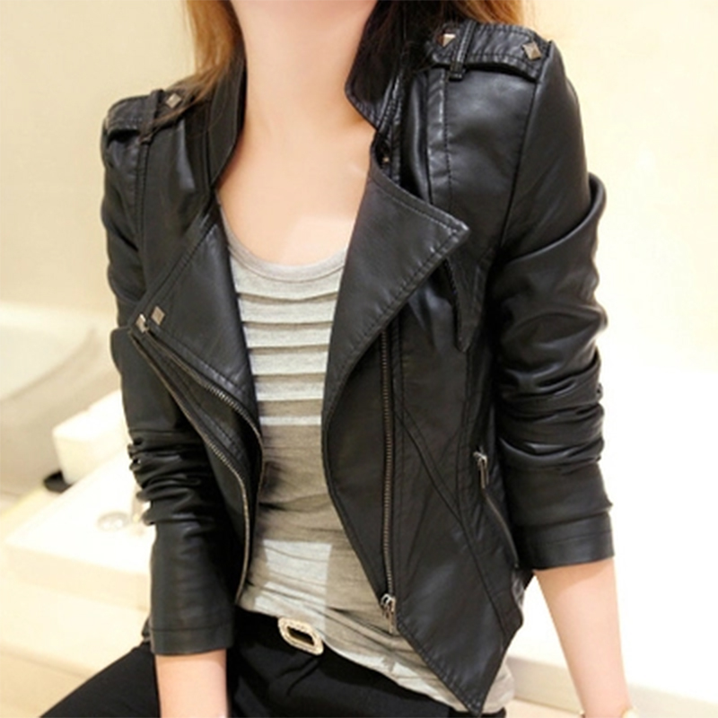 hot women leather jackets and blazers autumn winter coat2015
