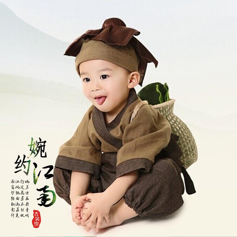 Меньше лес храм малый и еще одежда монах платье ребенок древний мужчина костюм для ребенка одежда ребенок ребенок ребятишки 1 полный год 3 волна