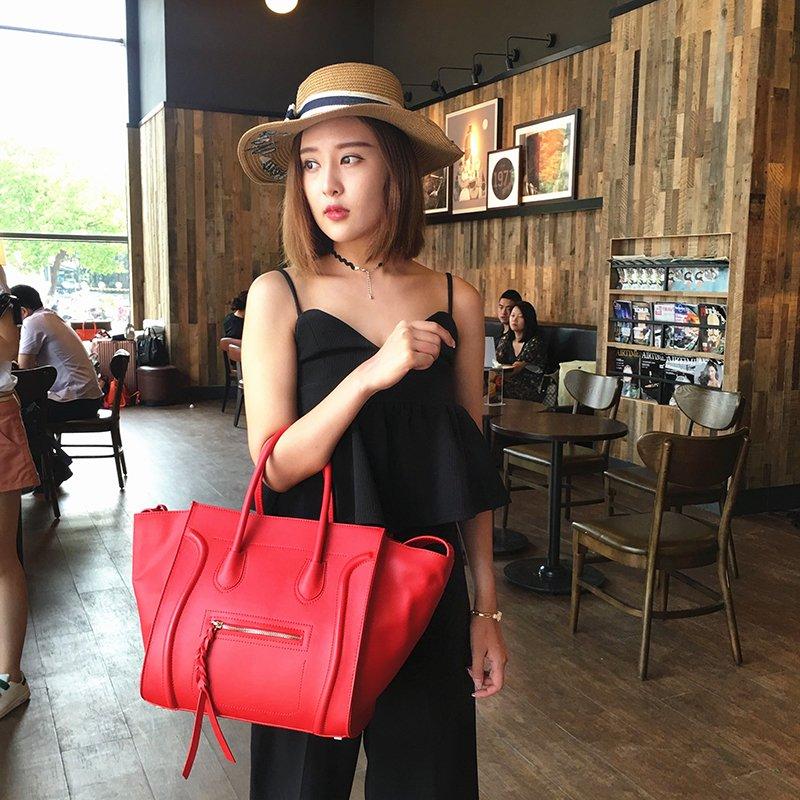 Túi nữ túi xách dung tích lớn túi xách túi xách túi xách 2020 mới hợp thời trang nụ cười túi cánh dơi túi đeo vai - Túi tin nhắn / túi xách tay / Swagger túi