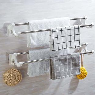 【免打孔】浴室不鏽鋼掛毛巾架