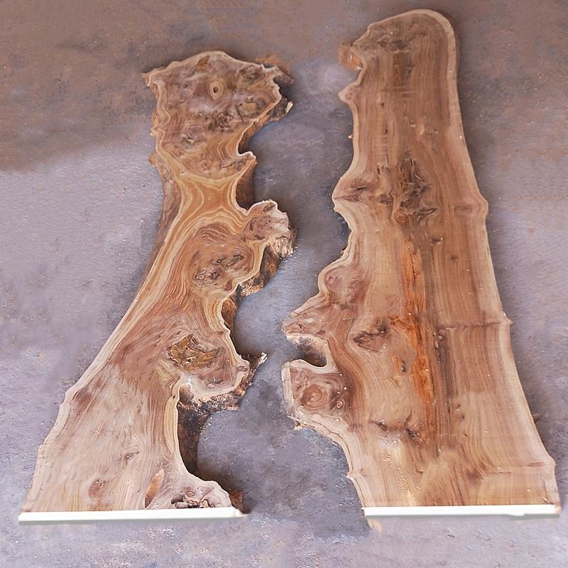 东北老榆木实木原木书架一字隔板自然边河流桌木料板材木板房梁料