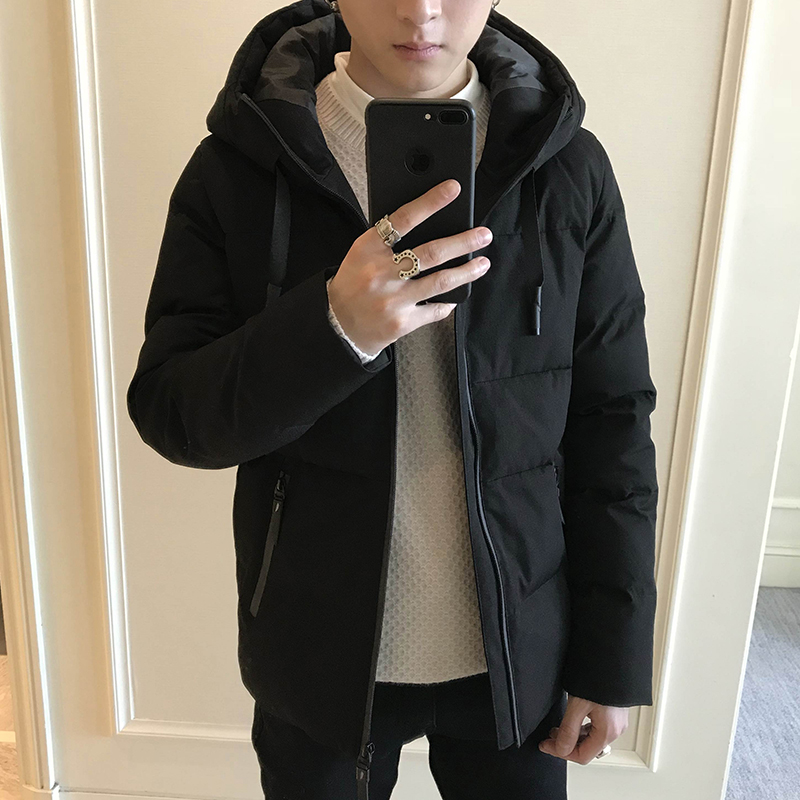 Men's jacket winter new trend Korean version of the short paragraph handsome autumn and winter men's down jacket cotton jacket cotton coat