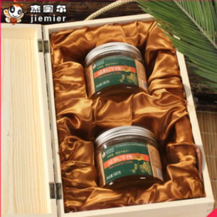 500g*4瓶蜂蜜礼盒装纯正天然高档手提盒包装盒套装送人送礼长辈