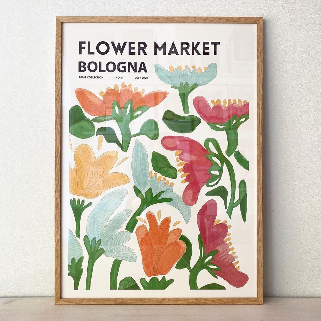 flower 浪漫花朵 复古抽象花卉艺术海报 家居装饰画 纸质海报