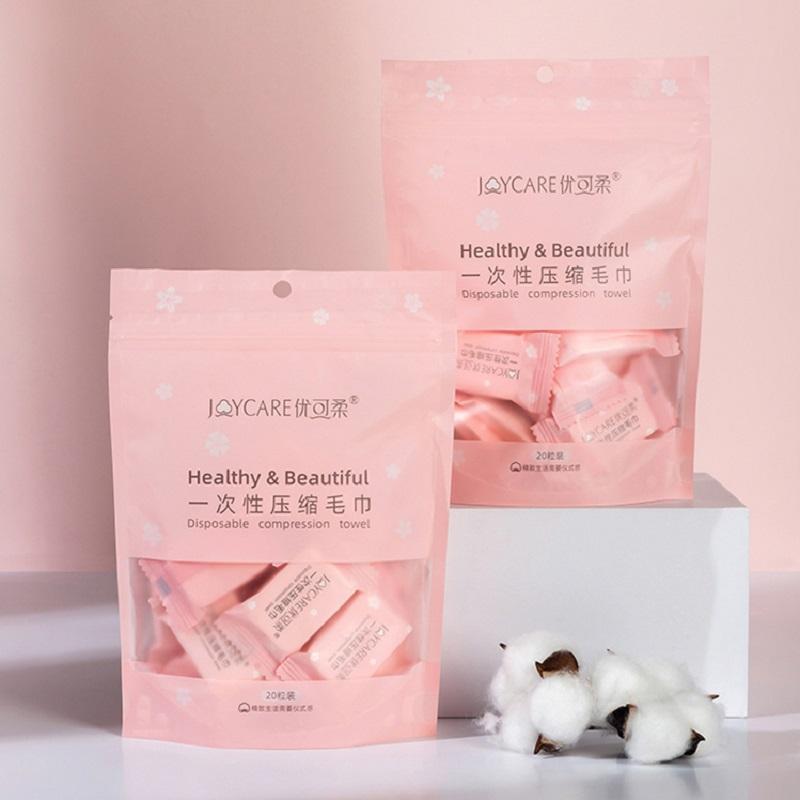 2包 压缩洗脸巾一次性纯棉便携式家庭旅行装颗粒优可柔洁面巾加厚