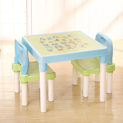 Small table kindergarten home baby table and chair set children learn blocks to eat plastic set table chairs