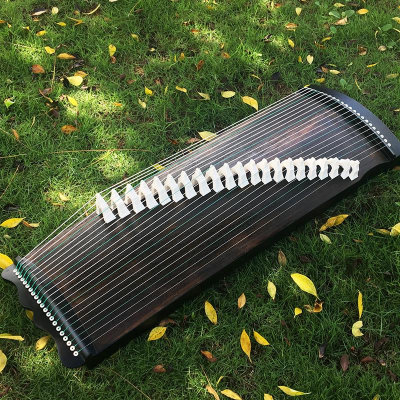 1米黑檀木素面便携迷你式初学入门专业考级演奏乐器小古筝