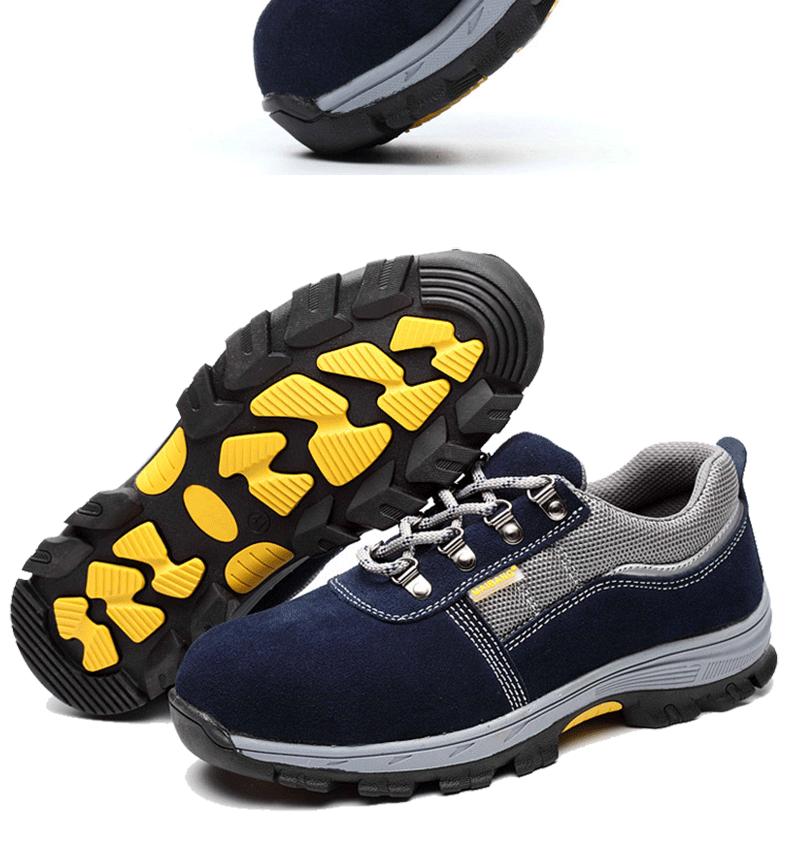 Giày bảo hiểm lao động Giày nam mùa hè thoáng khí hàn chống lại ánh sáng uy tín túi thép đầu chống mite chống đâm thủng giày công sở