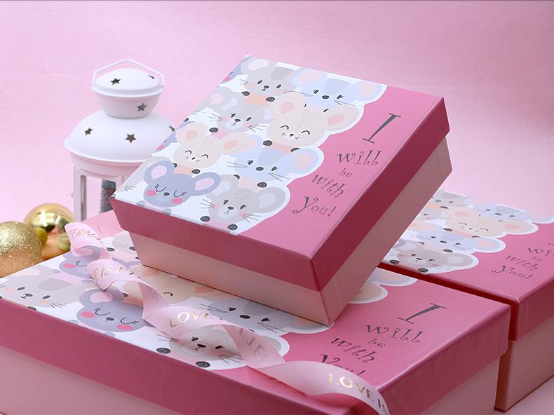 礼品盒子女生版生日礼品盒少女心大号口红礼品盒空盒子ins风大号商品详情图