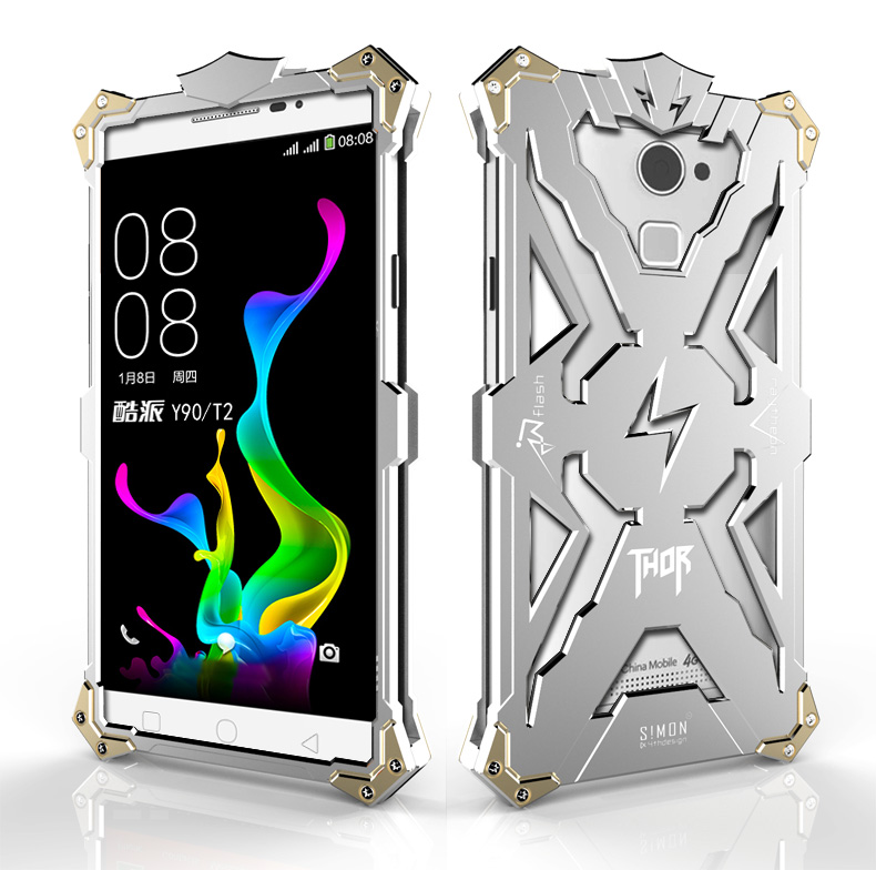 SIMON THOR Aviation Aluminum Alloy Shockproof Armor Metal Case Cover for Coolpad Y90