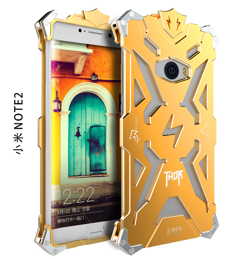 SIMON THOR Aviation Aluminum Alloy Shockproof Armor Metal Case Cover for Xiaomi Mi Note 2