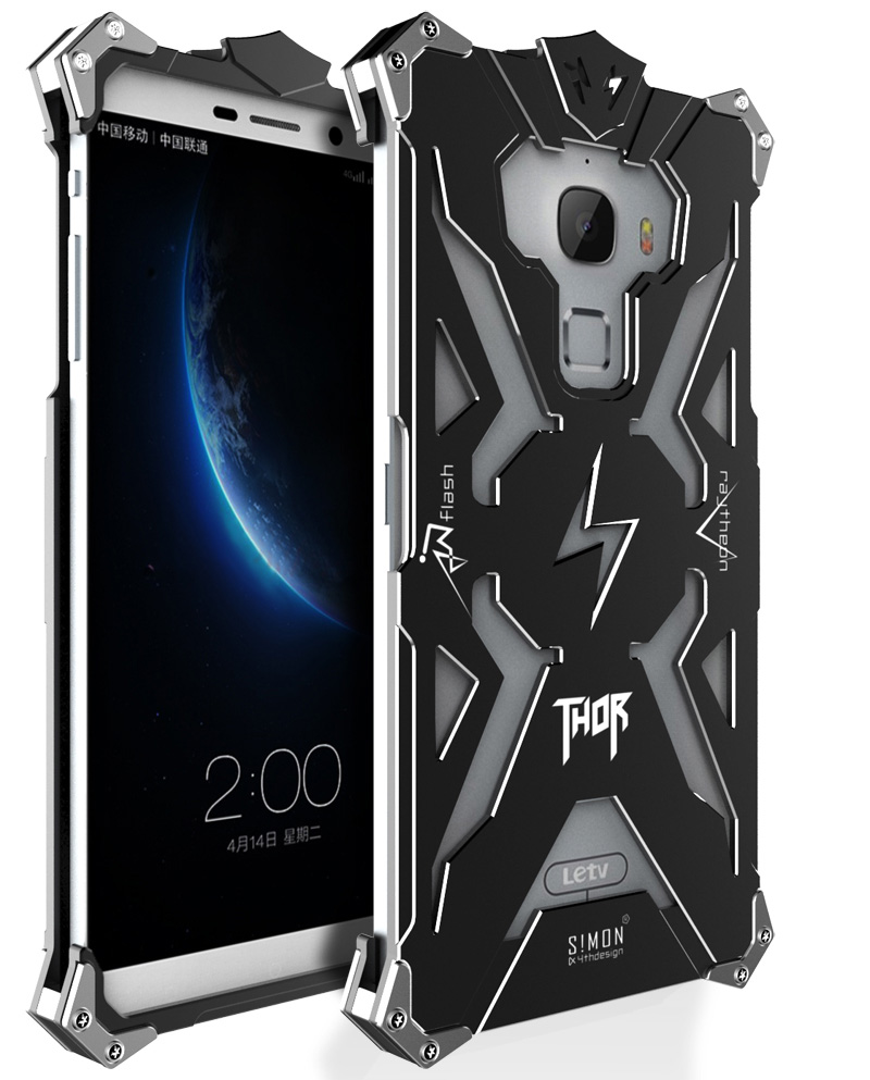 SIMON THOR Aviation Aluminum Alloy Shockproof Armor Metal Case Cover for LeTV Le Max X900
