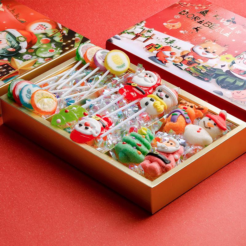 法芙乐糖果礼盒装万圣节圣诞送女友网红儿童礼物星空棒棒糖棉花糖