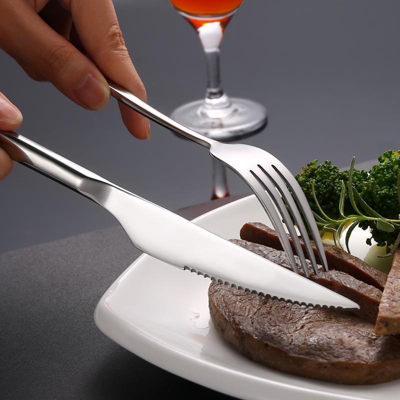304不锈钢牛排刀叉勺单个西餐餐具套装欧式家用切牛排吃牛扒刀叉