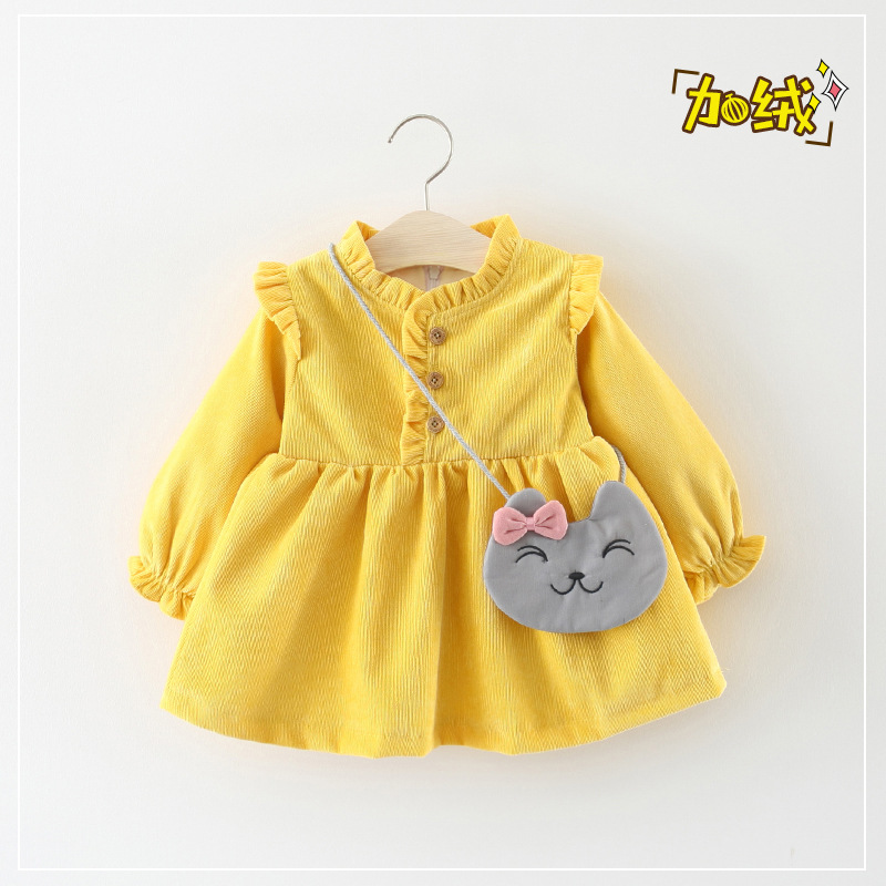 1b6a48227 USD 24.07  Female baby winter 0-1-2-3-year-old girl winter princess ...
