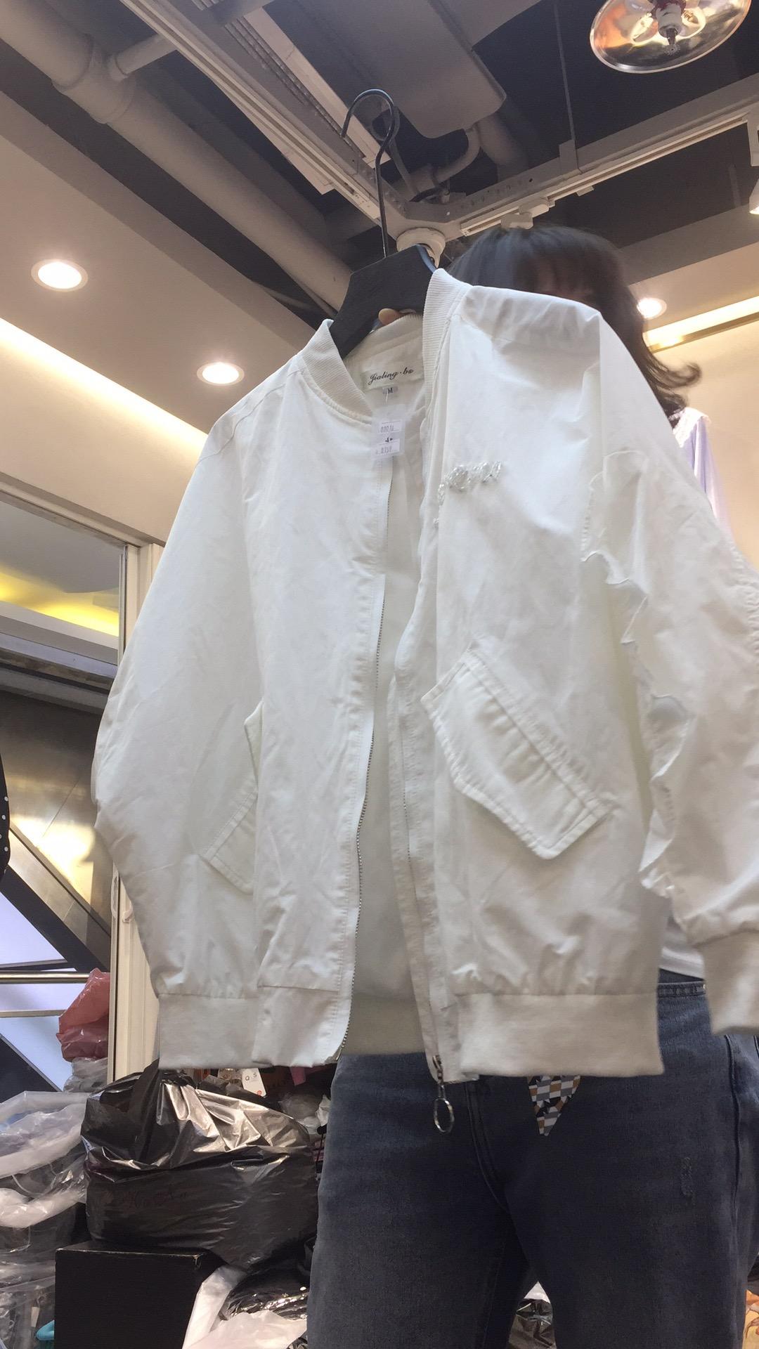 2019春夏新款v白色白色外套OH-88016