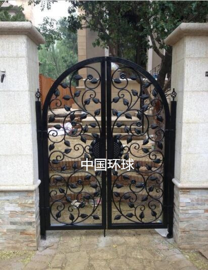 Custom Wrought Iron Gate Patio Door European Villa Into The Double