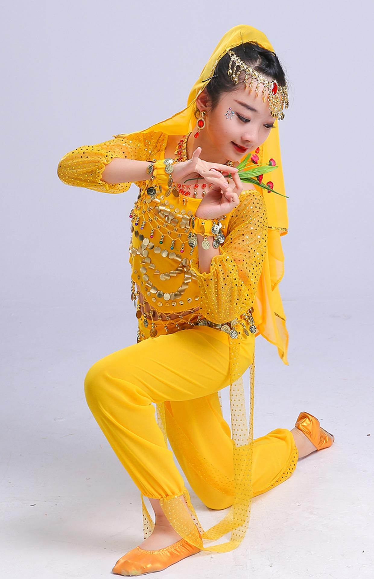 儿童舞蹈民族舞_肚皮舞少儿舞蹈首饰儿童铃铛手