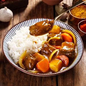 日式金咖喱红烧牛肉料理包四盒装