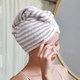 2 dry hair caps women absorb water quick-drying artifacts wipe hair dry hair towel thickening turban shower cap cute quick-drying cap