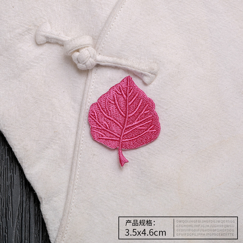 Embroidered leaves flowers cloth stickers clothes decoration patch