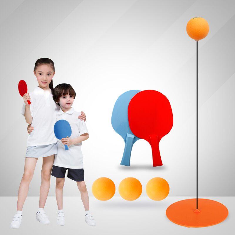 弹力软轴乒乓球训练器自练神器儿童防近视室内玩具家用球拍小学生