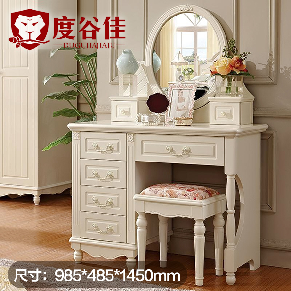 Korean solid wood dressing table bedroom web celebrity European dressing  table simple modern princess mini makeup table small family