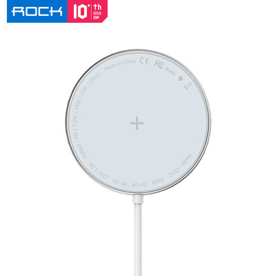 ROCK for iPhone12 wireless charger Apple 12pro max special MAGSAFE magnetic fast charge 12PRO head mobile phone MINI genuine POR15W board 20 unlimited PROMAX