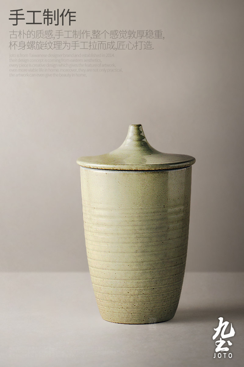 About Nine soil Japanese ceramic cups creative manual restoring ancient ways with cover glass contracted daily household office cup tea cup