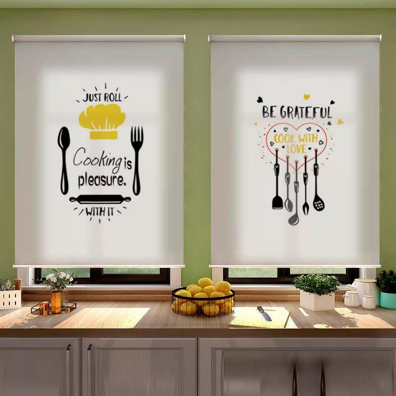 【玄雅】厨房免打孔安装防油隔热窗帘