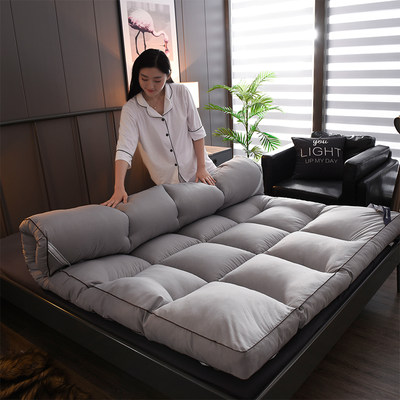 Friendly grinding tatami thick 10cm three-dimensional feather velvet mattress 1.8M double bed student mattress pad