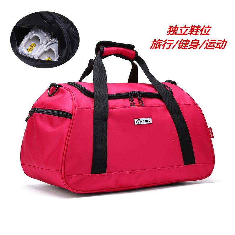f7385d264022 Portable travel bag fitness bag female sports bag large-capacity male  luggage bag short-distance travel bag Korean luggage bag