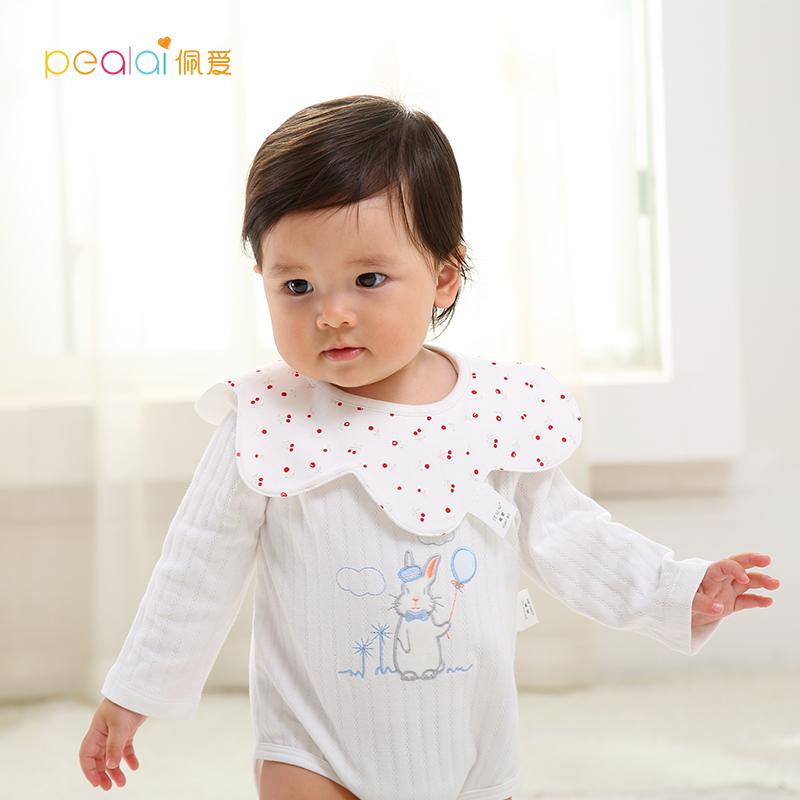 佩爱秋季新款婴幼儿纯棉长袖爬服哈衣