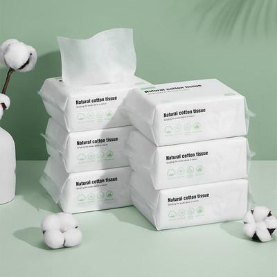 嫚熙婴儿棉柔巾干湿两用纯棉加厚6包新生儿宝宝手口屁专用抽取式