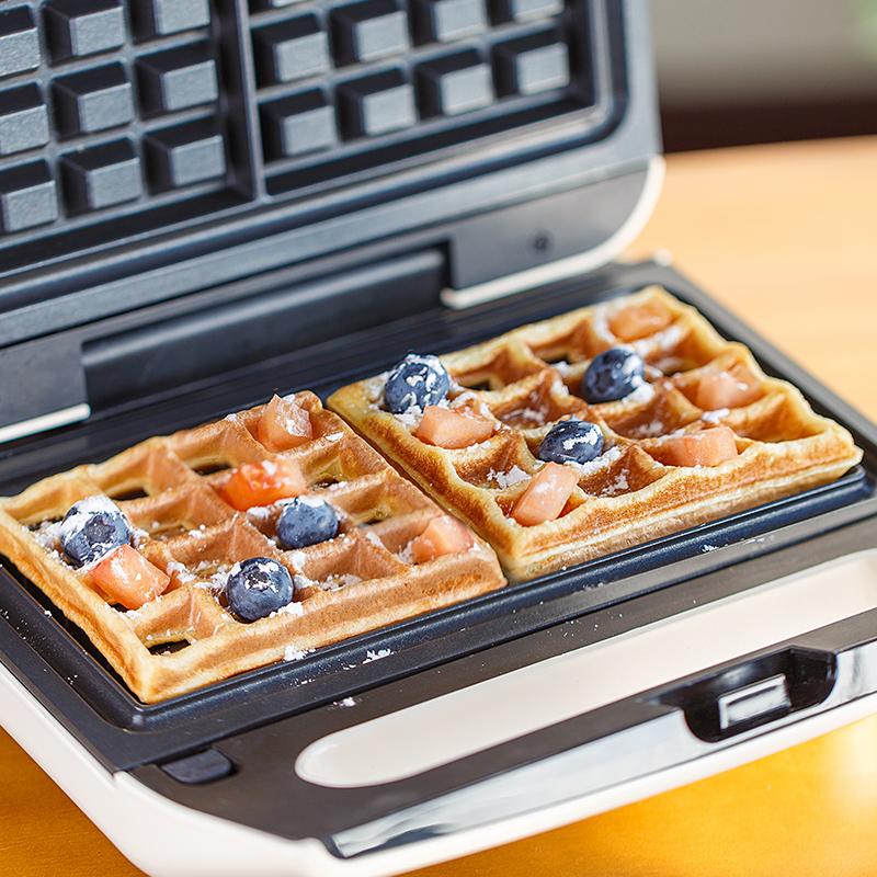 格伊网红三明治机早餐机家用小型吐司压烤机轻食机华夫饼三文治机,免费领取40元淘宝优惠卷