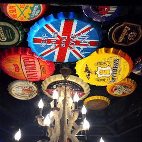 Декоративные аксессуары,  Ретро пиво капсула творческий трехмерный стена украшения метоп творческий бар декоративный кофе зал кулон стена украшения железный лист живопись, цена 133 руб