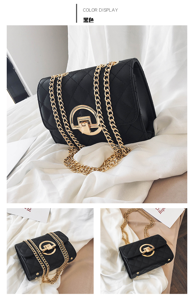 Fashion Small Square Bag Handbag 2019 High-quality PU Leather Chain Mobile Phone Shoulder bags Green one size 47