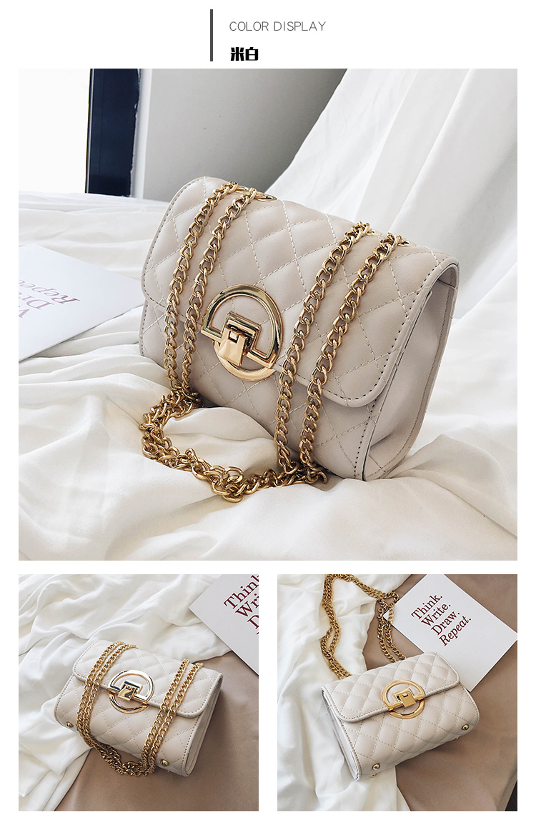 Fashion Small Square Bag Handbag 2019 High-quality PU Leather Chain Mobile Phone Shoulder bags Green one size 46