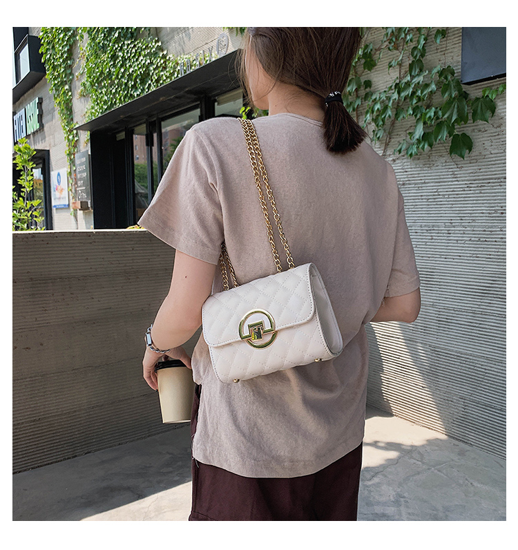 Fashion Small Square Bag Handbag 2019 High-quality PU Leather Chain Mobile Phone Shoulder bags Green one size 16