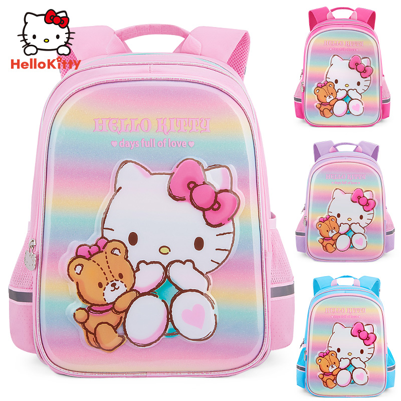 hellokitty儿童小学生书包1-3女童一三年级凯蒂猫双肩包2019新款