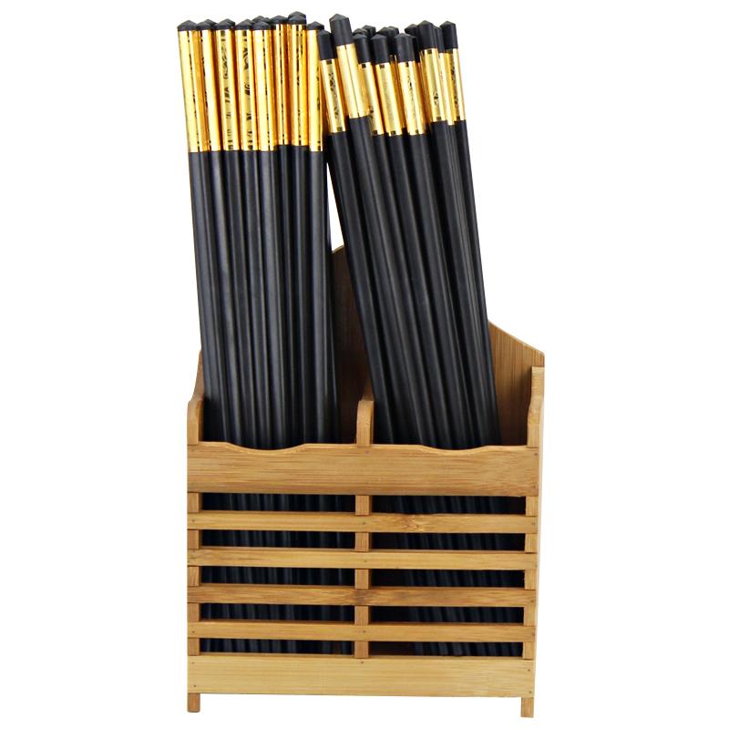 沃米家用筷子篓挂式沥水筷子筒餐厅商用竹子筷笼创意筷子架厨房_领取5元天猫超市优惠券