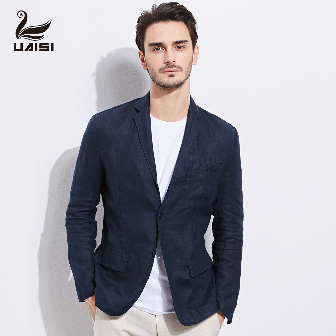 049a3fd7b6a United States UAISI 2019 spring new men's linen suit men's casual jacket  coat slim small suit tide