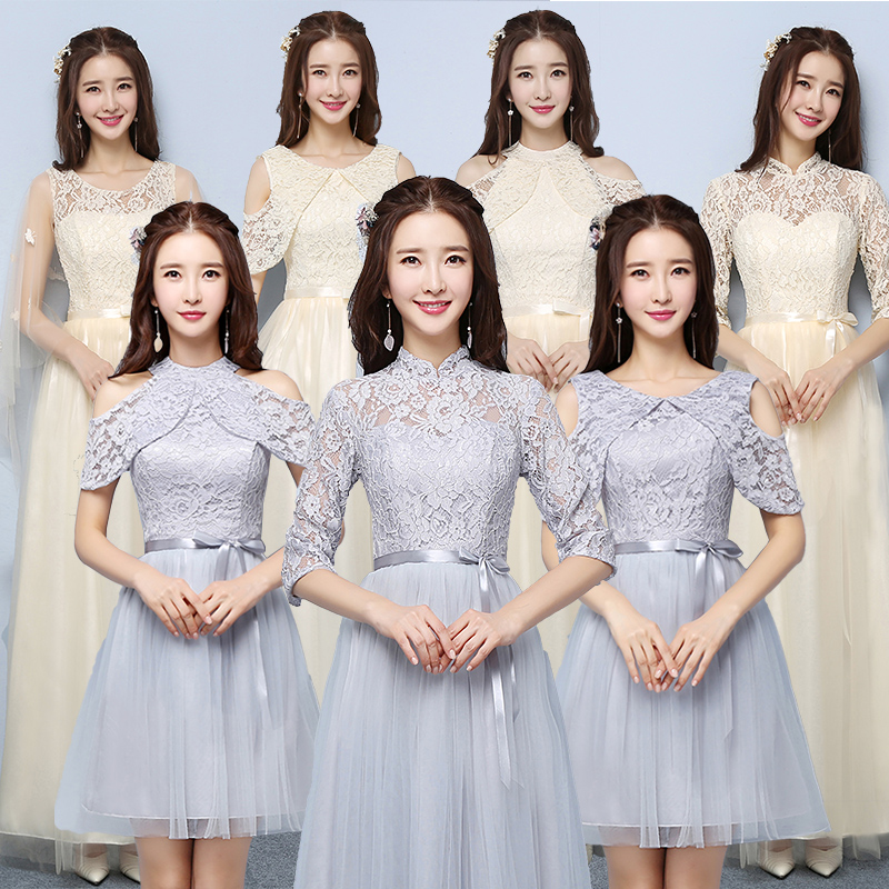 Bridesmaid dress 2018 new Korean version of the spring and summer ...