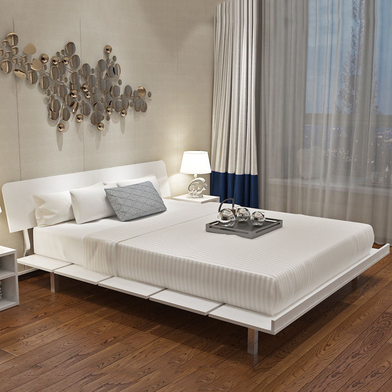 Modern Simple Tatami Bed Master Bedroom Personality Panel Bed 1.5 M Double  Bed 1.2 Single Bed Frame Bed