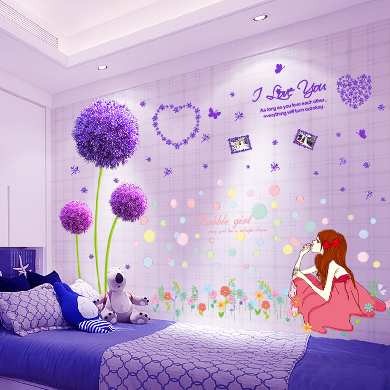 Bedroom Warm Bedside Background Wall Decoration Wallpaper Self Adhesive  Living Room Arrangement Wall Stickers Art