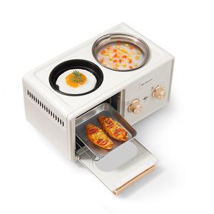 金正多士炉三合一早餐机多功能电烤箱烤面包机懒人神器家用煎烤锅