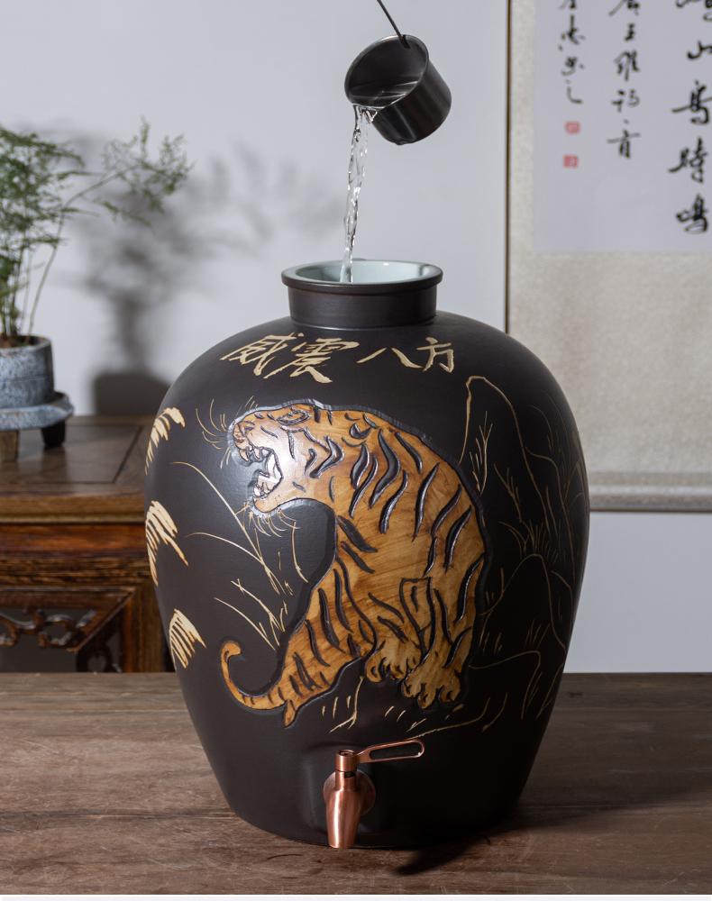 Jingdezhen ceramic antique wine jar household seal it wine liquor bottles (/50 kg