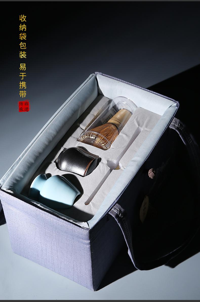 Build one set of matcha tea Xian suit some tea with tea powder baking tea tea ceramic accessories principal and interest suits for